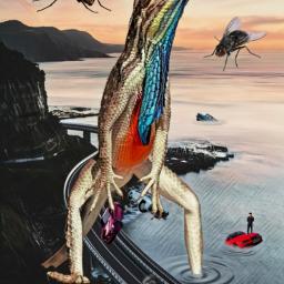 freetoedit giantanimals reptile flies cars