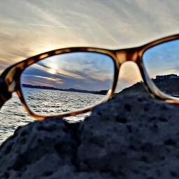 myfoto tramonto mare riflessi pcminimalism