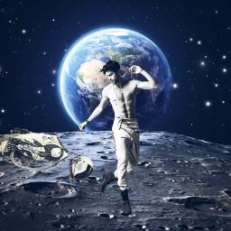 freetoedit surreal moon