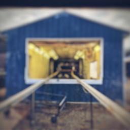 blureffect building track blue blurry