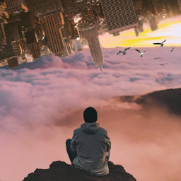 freetoedit sunfltr surreal upsidedownworld