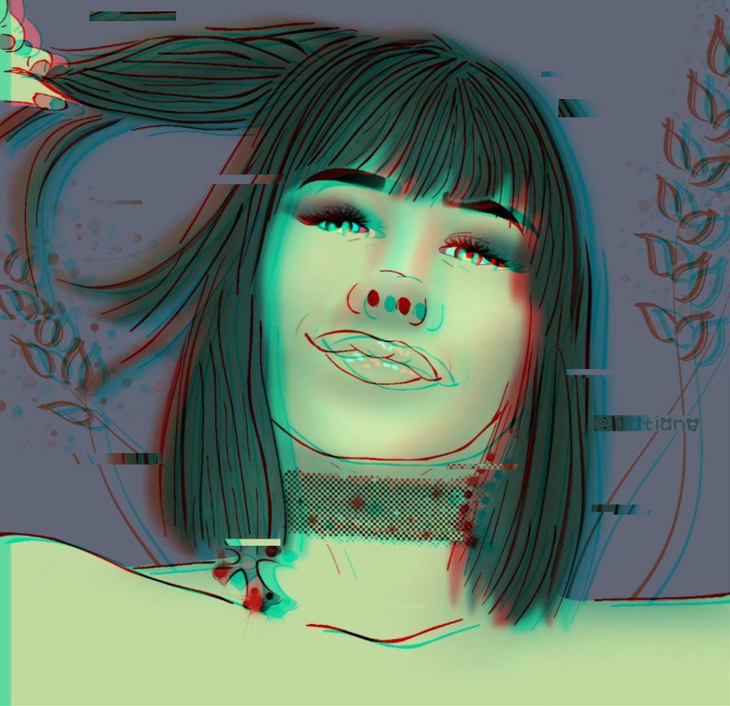 #freetoedit #glitch #myedit #iloveit #green #fotoedit #error #smile #hairstyle #tumblrgirl #efecto3d #efectospicsart #dibujo #newedit