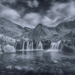 freetoedit waterfall landscape mountain rocky scene scenery