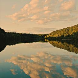 freetoedit naturephotography clouds reflectioninwater goldenhours