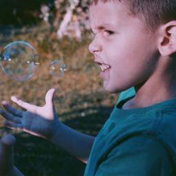 freetoedit bubbles kid child smile