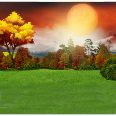 ftestickers background landscape grass trees freetoedit