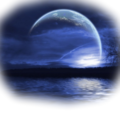 ftestickers moon moonlight lake trees freetoedit