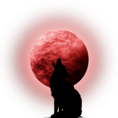 ftestickers coyote wolf moon fullmoon freetoedit