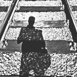 railway shadow me work blackandwhite