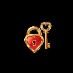 heart hearts lock key gold freetoedit