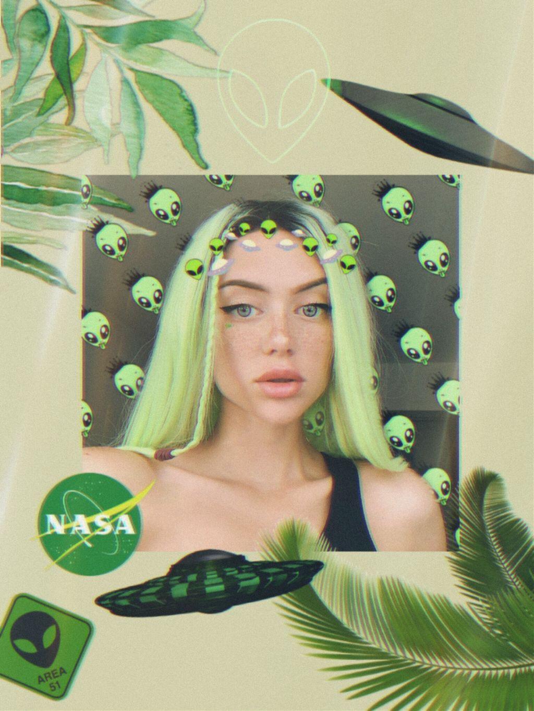 #freetoedit #oleshev #girl #green #verde #nasa #ovni #alien #area51 #palmtree  #srcalienroyalty #like #like4like #followme