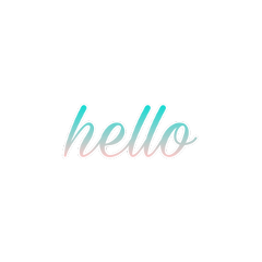 hello pink turquoise helloworld cursive freetoedit