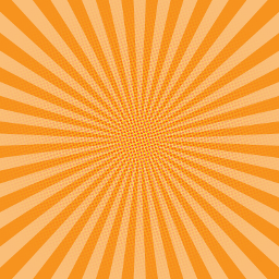 orange background comic stripes dots freetoedit
