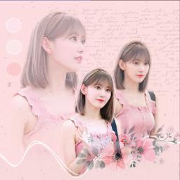 sakura izone izonesakura rose aesthetic freetoedit