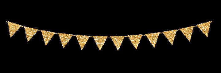 gold glitter banner flag pennant freetoedit