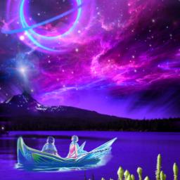 freetoedit fantasyart galaxy starlight lake srcgalaxyaway