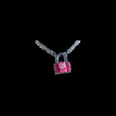 cute lock messy chain pink freetoedit