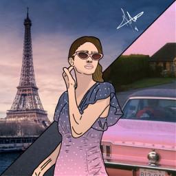 art paris faceart outline draw Background Backgrounds Arkaplan Duvarka Meeori
