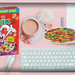 pink table cereal keypad flowers freetoedit ircpinkremix