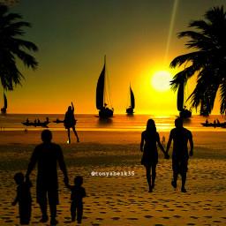 freetoedit editedwithpicsart editbyme silohuette beachsunset
