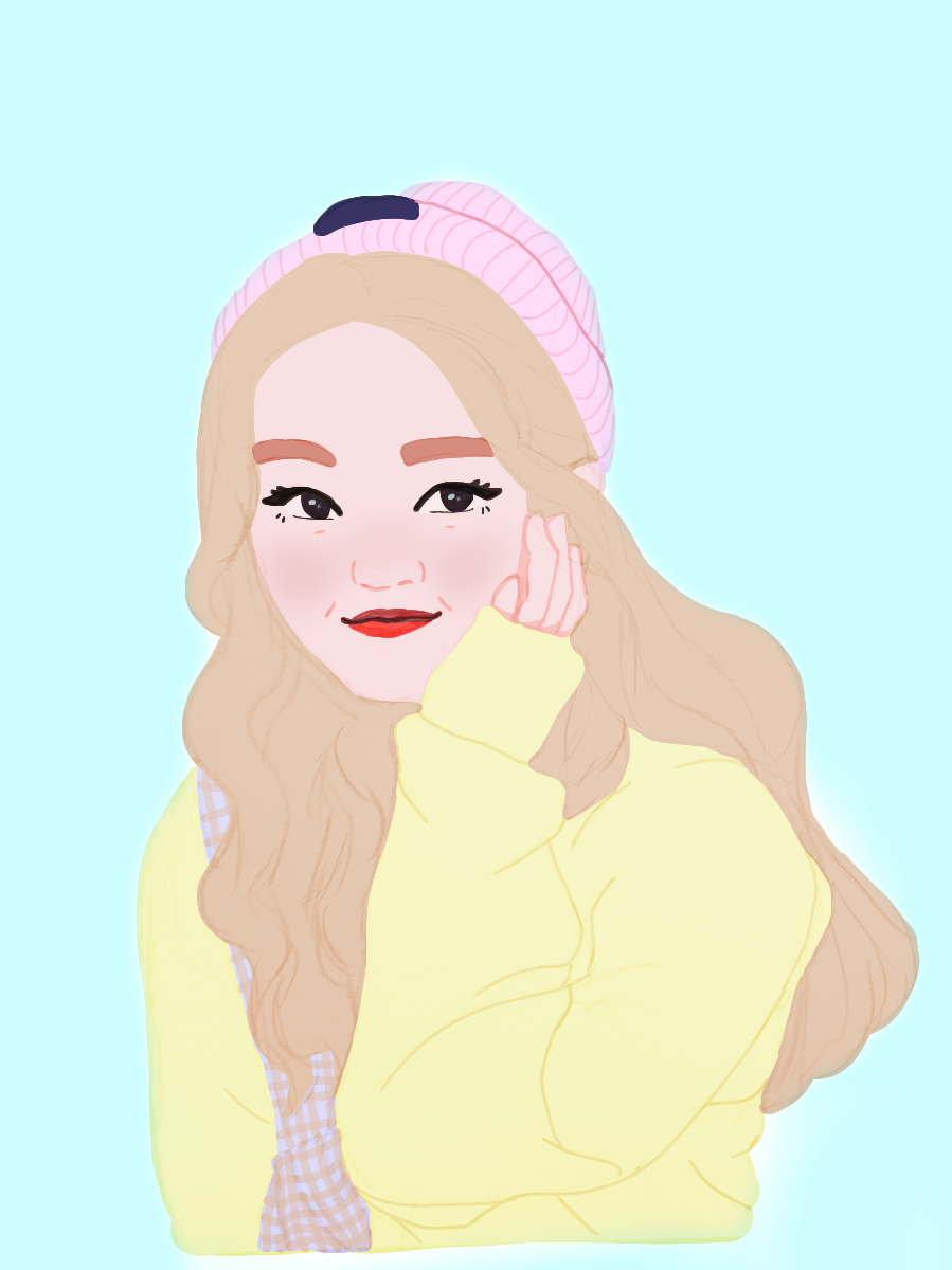 Gowon is baby 2.0 because i HAD to color her. She's just so cute   #freetoedit #kpopfanart #kpop #art #drawing #myart #mydrawing #fanart #loona #gowon