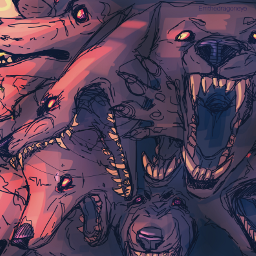 drawing wolf horrorart creepy