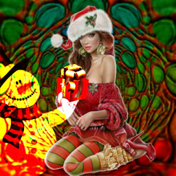 freetoedit christmasiscoming christmascolors