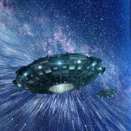 freetoedit space ufo startrails background
