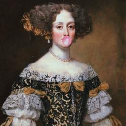 freetoedit classic woman art gum