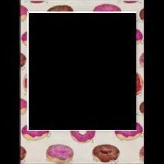 polaroid freetoedit. donuts freetoedit
