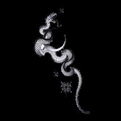 tattoo tattooday snake black white freetoedit