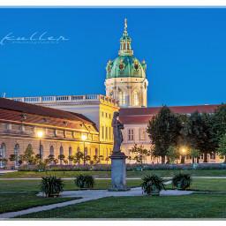 freetoedit berlin palace schlosscharlottenburg bluehour