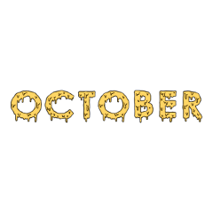october slime yellow text freetoedit