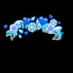 blue emoji crown emojicrown dolphin freetoedit