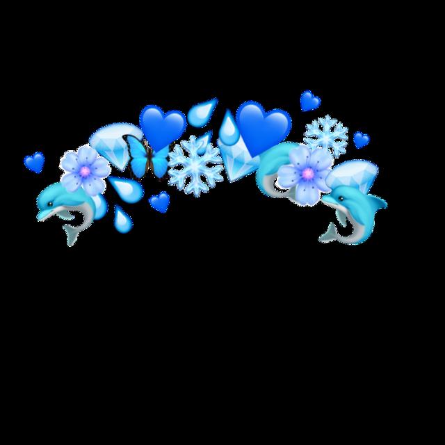 #blue #emoji #crown #emojicrown #dolphin #diamonds #blueheart #iloveblue #picsart  #freetoedit