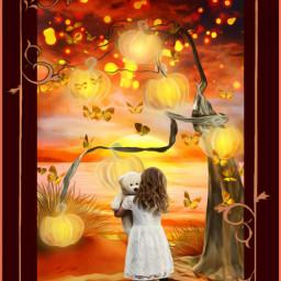 freetoedit october magical pumpkins child ircoctoberishere