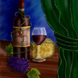 dcmyfavfruit drawings artistic colorful wine