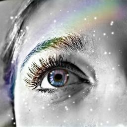 freetoedit myremix rainbowbrush hdreffect eyesgalaxy
