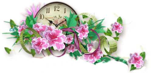 freetoedit clock flowers