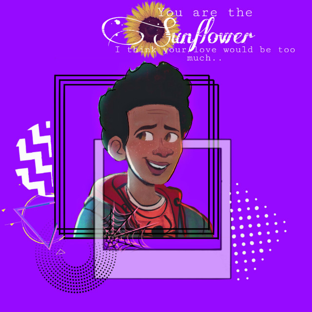 Like if you like this song and movie 😀 #freetoedit #spiderman #milesmorales #sunflower #postmalone #swaelee #outline #frames #objects #kpopbrush #song