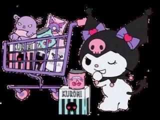 kuromi shopping freetoedit