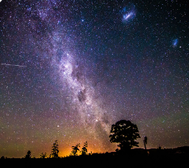 небо фон космос ночь синий freetoedit