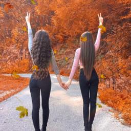 freetoedit girls cute hojasdeotoño beautiful srcautumncolors
