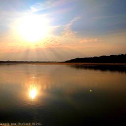 photographynature horizon river reflection editedbyme  lindo freetoedit