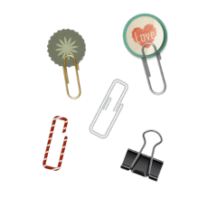 paperclip paperclips office supplies officesupplies freetoedit