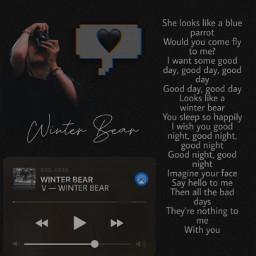 winterbear v bts btsv aesthetic freetoedit