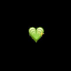 freetoedit emojiiphone homemade greenheart emoji