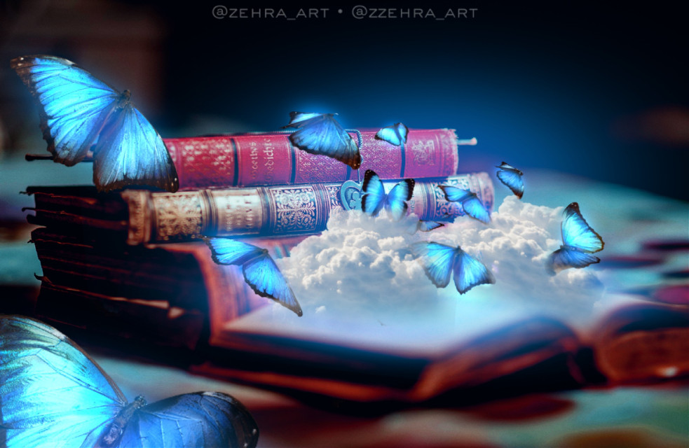 Her gallery is awesome @wen-dawn #vipshoutout  #freetoedit #butterfly #butterflies #clouds #book #surreal #dreams