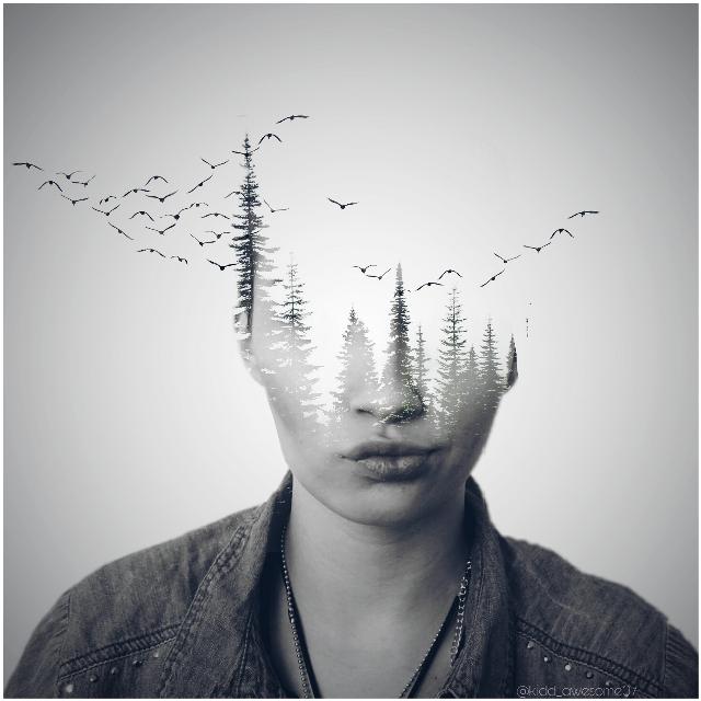 #freetoedit #doubleexposure #portrait #girl #picsart #photooftheday #art
