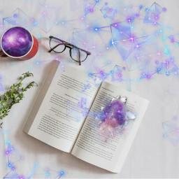 freetoedit geometricbrush book galaxy